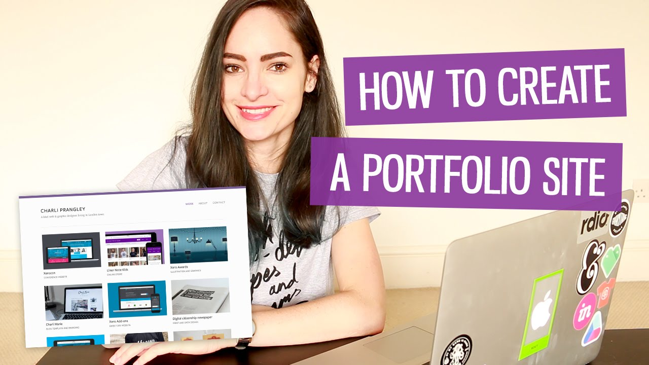 How to make a design portfolio website | CharliMarieTV